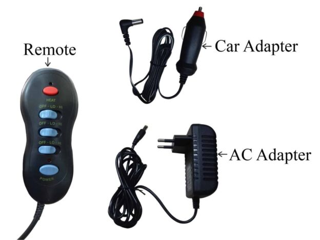 Seat Topper Back And Car Neck Massager With Heat